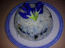 cooking pleasure fragrant blue pea flower rice