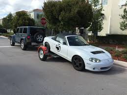flat towing or dolly towing a 2010 2014 nc mx 5 miata forum