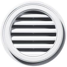 Smart Vent Roof Ventilation Builders Edge 18 In Round Gable Vent In White 120031818001 The