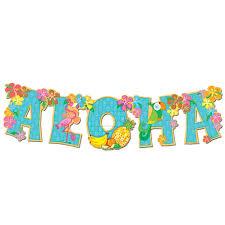Hawaiian Themed Bedroom Ideas Aloha Clip Art Hawaiian Aloha Streamer Banner Jointed Banner