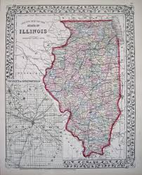 Springfield Illinois Map by Antique Maps Of Illinois