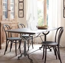 factory zinc u0026 cast iron rectangular dining table
