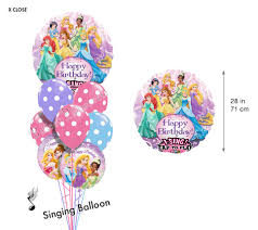 singing balloon delivery princess birthday i singing balloon bouquet 9 balloons balloon