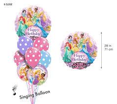 singing birthday balloons princess birthday i singing balloon bouquet 9 balloons balloon