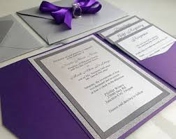 Wedding Invitations Purple Purple Invitations Etsy