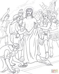 tenth station jesus u0027 clothes are taken away coloring page free