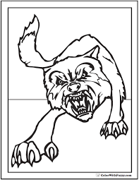 wolf coloring pages print customize