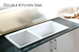 double kitchen sinks double kitchen sink ceramic sinks simple sided clogged