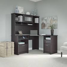 cabot lateral file cabinet in espresso oak cabot espresso oak corner desk hutch and 2 drawer file cabinet