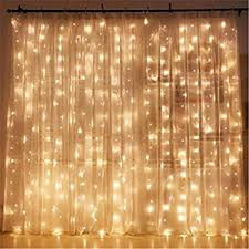 Decorating With String Lights Amazon Com Twinkle Star 300 Led Window Curtain String Light For