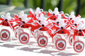 thepartypalace ladybug baby bottle party favors set of 12 candy