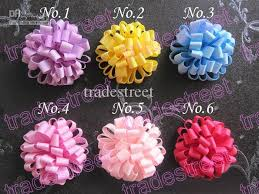 flower bow loopy puff flower loopy hair bows baby hair bow ponytial