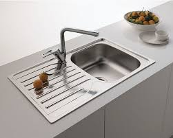 FRANKE SINGLE  BOWL DRAINER  WASTE STAINLESS STEEL LINEN - Square kitchen sink