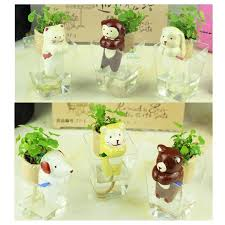 Self Watering Tail Self Watering Doll Diy Plant Mini Innovative Ceramic Pot