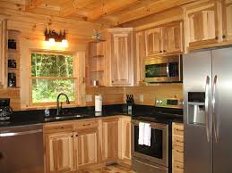 image result for what countertops go with hickory cabinets