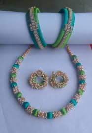 fashion necklace sets images Pearl with silk thread fashion jewelry fashion jewellery fashion jpeg