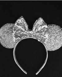 silver headband amazing deal on silver sequin mickey minnie ears sparkle pink