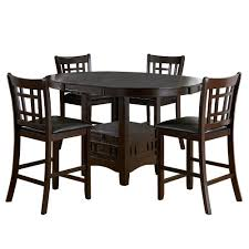 5 piece dining room sets homesullivan ryoko 5 piece dark cherry bar table set 402423 36 5pc