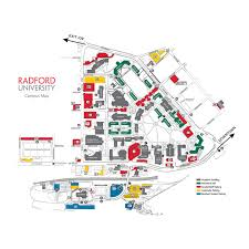Virginia Area Code Map by Campus Maps U0026 Directions Radford University