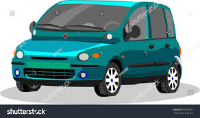 fiat multipla wallpaper minsk belarus september 21 2016 vector stock vector 513990193