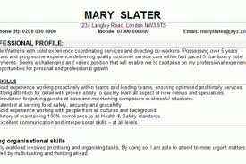 Resume Examples For Waitress by Waitress Cv Waitress Resume Resume Writing As Waitress Reentrycorps