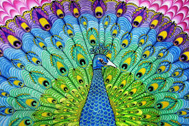 Home Decoration Material Online Get Cheap Fabric Painting Peacock Aliexpress Com Alibaba