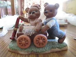 Home Interior Bears Home Interiors Gifts 1999 Homco 14067 99 Playtime Bears In Wagon