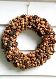 acorn and pinecone wreath hgtv