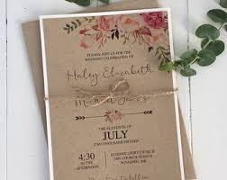 Paper Invitations Wedding Invitation Kits Etsy Ca
