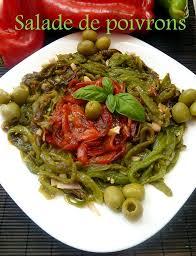cuisiner le poivron vert salade de poivrons