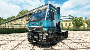 volvo truck commercial black pearl skin for volvo truck for euro truck simulator 2