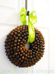 tutorial for a hickory nut wreath i u0027m thinking i could use sweet