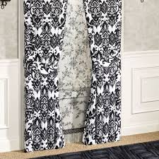 cambridge black and white damask window treatment by j queen new york