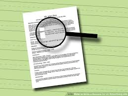 How To Set Up A Resume For A Job by 3 Ways To Write A Resume For An Advertising Job Wikihow