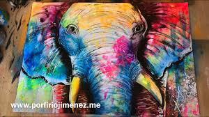 Spray Paint Artist - colorful elephant spray paint art youtube