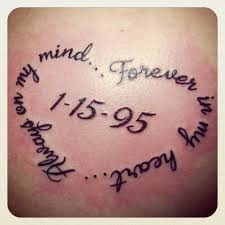 thigh quotes tattoos i wanna get this tattoo in memoriam of my mom and dad with their