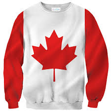 canadian flag sweater shelfies