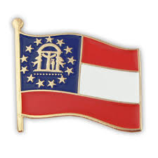Georgia Flag State Amazon Com Pinmart U0027s Georgia Us State Flag Ga Enamel Lapel Pin 1