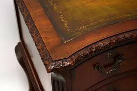 Office Desk Leather Top Vibrant Mahogany Office Desk Executive Leather Top Solid Intended
