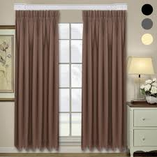 homdox 2 panel rustic window curtains for living room bedroom