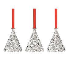 lenox set of three silver trees christmas ornaments