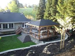 Patio Deck Cost by Backyard Deck Plans Find This Pin And More On Yard Backyard Deck