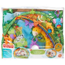 fisher price rainforest music and lights deluxe gym playset fisher price rainforest melodies lights deluxe gym 60 00