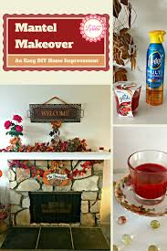 mantel makeover an easy diy home improvement life with lorelai add style to your home and fireplace with this easy diy mantel makeover for under 50