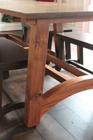 modern walnut farm table and benches chad hill u2013 furniture designer