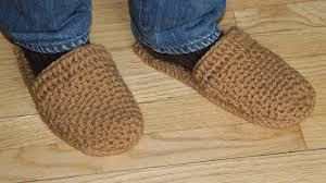 how to crochet men s slippers video tutorial for beginners youtube