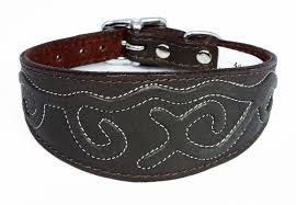 afghan hound collars uk embossed stitch design leather whippet collar greyhound collar italian