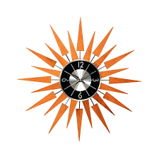 Wooden Wall Clock George Nelson Multi Color 18 5 In Sunburst Wall Clock Hayneedle
