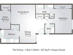 3 bedroom apartment floor plans u0026 pricing u2013 harper grand orlando fl