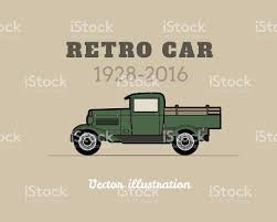 Vintage Ford Truck Art - retro pickup truck car vintage collection stock vector art